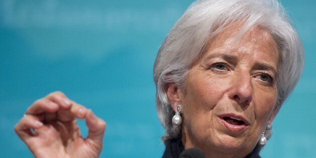 IMF Managing Director Christine Lagarde speaks about the state of the US, Greek and global economy during...