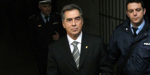 FILE - In this Wednesday, Feb, 27, 2013 file photo, Vassilis Papageorgopoulos, the former mayor of Greece's...