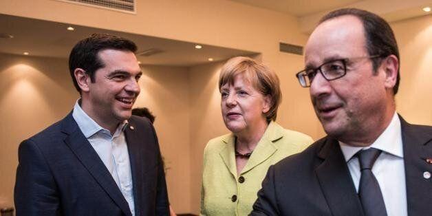 Ανακοινώθηκε από το Μαξίμου η συνάντηση Τσίπρα με Μέρκελ και Ολάντ στις
