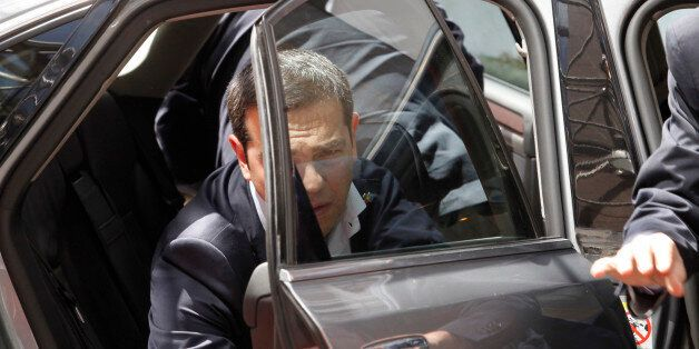 Greek Prime Minister Alexis Tsipras arrives for the EU-CELAC summit in Brussels on Wednesday, June 10,...