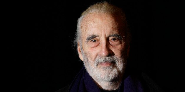 FILE- In this file photo dated Friday March 5, 2010, British actor Sir Christopher Lee is photographed...