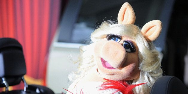 Miss Piggy arrives at the premiere of The Muppets at El Capitan Theater, Saturday, Nov. 12, 2011, in...