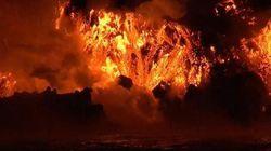 Συγκλονιστικές εικόνες από έκρηξη ηφαιστείου στα νησιά