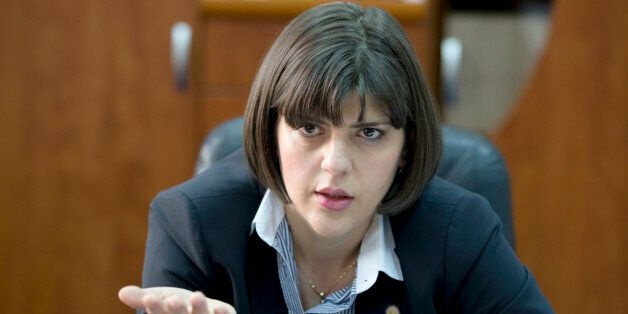 In a picture taken on Wednesday, April 8, 2015 Laura Codruta Kovesi the chief prosecutor of Romania's...