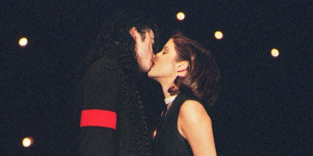 (FILES): This September 8, 1994 file photo shows US pop star Michael Jackson and his then wife Lisa-Marie...
