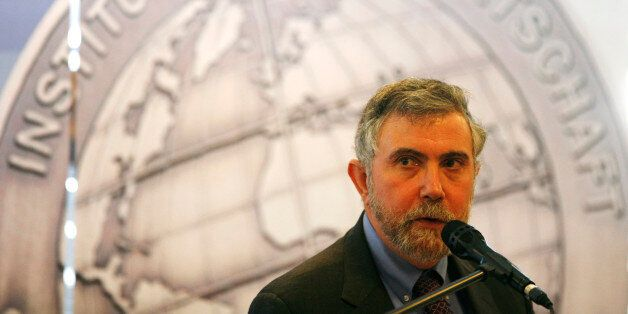 US Nobel Prize of Economy winner Paul Krugman delivers his speech after he was awarded with the Global...