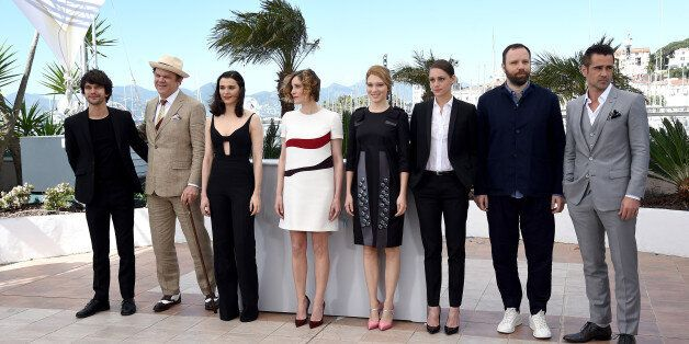 CANNES, FRANCE - MAY 15: (L-R) Actors Ben Whishaw, John C. Reilly, Rachel Weisz, Angeliki Papoulia, Lea...
