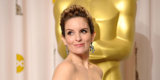 HOLLYWOOD, CA - FEBRUARY 26: Actress Tina Fey poses in the press room at the 84th Annual Academy Awards...