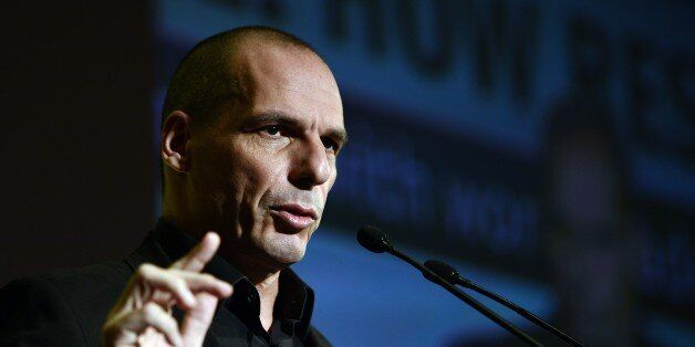 Greek finance minister Yianis Varoufakis speaks during the Economist conference entitled 'Europe: The...