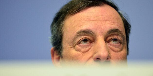 FRANKFURT AM MAIN, GERMANY - DECEMBER 04: Mario Draghi, President of the European Central Bank pictured...