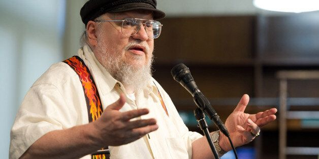 Author George R.R. Martin appears at a book signing