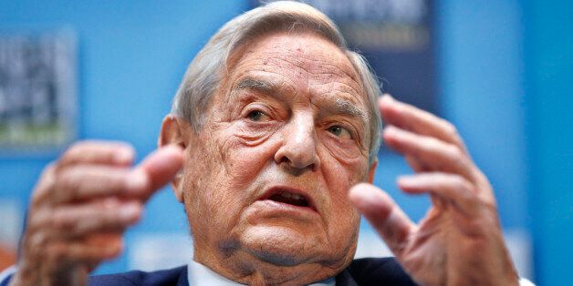 George Soros, chairman, Soros Fund Management, speaks during a