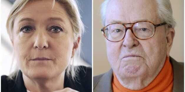 A combination made on April 10, 2015 shows files pictures of French far right Front National (FN) party'...
