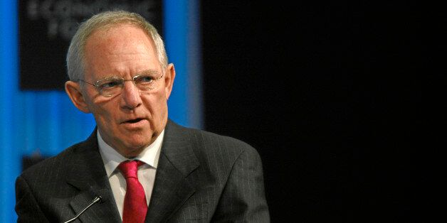 DAVOS/SWITZERLAND, 29JAN11 - Wolfgang Schäuble, Federal Minister of Finance of Germany, is captured...