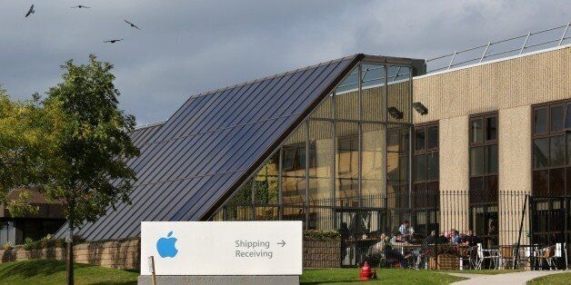TO GO WITH AN AFP STORY BY CONOR BARRINSA view of buildings on The Apple campus in Cork, southern Ireland...