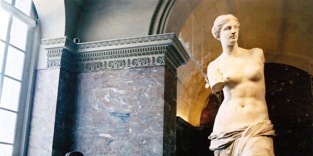 Aphrodite of Milos, aka Venus de Milo, in the Louvre. I looked everywhere for the corresponding Gummi...