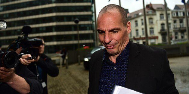 Greek Finance Minister Yanis Varoufakis arrives at the European Commission to meet with European Commissioner...