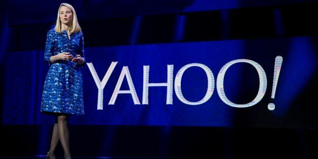 FILE - In this Jan. 7, 2014 file photo, Yahoo President and CEO Marissa Mayer speaks during the International...