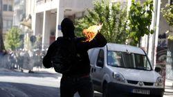 Μικροεπεισόδια στο κέντρο της Αθήνας μετά την ολοκλήρωση της πορείας για την