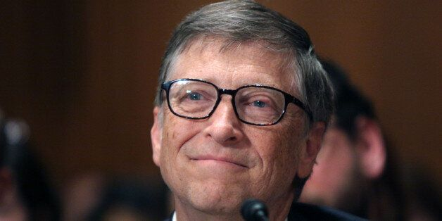Bill Gates prepares to testify on Capitol Hill in Washington, Thursday, March 26, 2015, before the Senate...