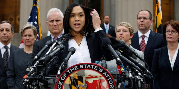 Marilyn Mosby, Baltimore state's attorney, speaks during a media availability, Friday, May 1, 2015 in...