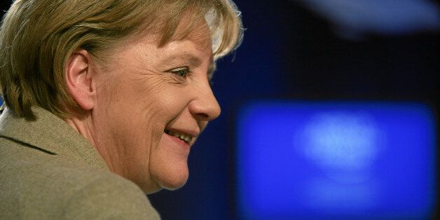 DAVOS/SWITZERLAND, 28JAN11 - Angela Merkel, Federal Chancellor of Germany captured after the session...