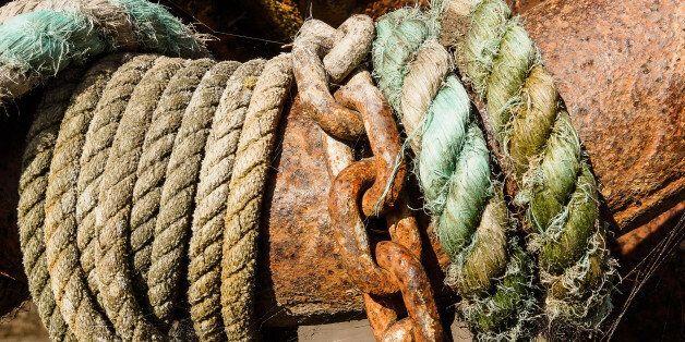 Around an old anchor at Sheldrakes,