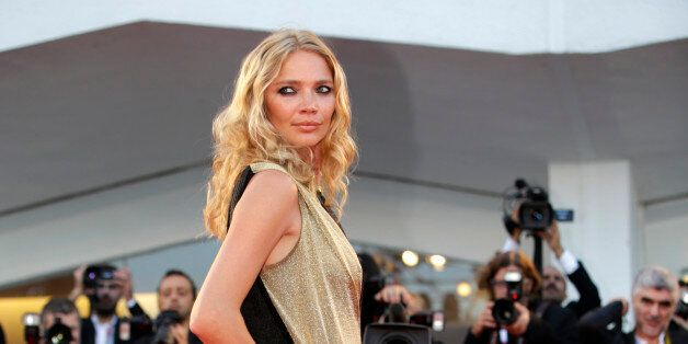 Model Jodie Kidd arrives on the red carpet for the screening of the film Under The Skin at the 70th edition...