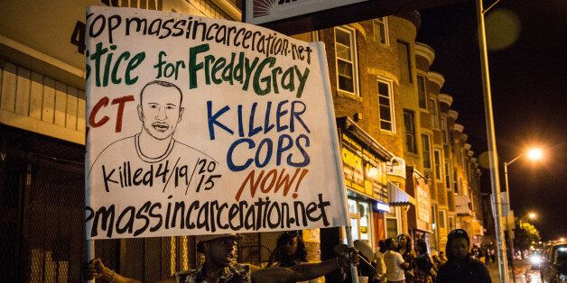 BALTIMORE, MD - MAY 02: Protesters hang out in Sandtown neighborhood where Freddie Gray was arrested...