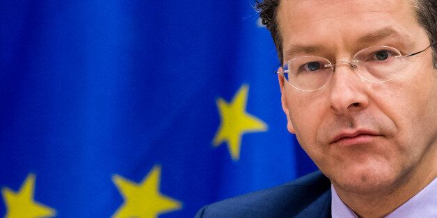 Dutch Finance Minister and the head of the eurogroup Jeroen Dijsselbloem attens a meeting of the Committee...