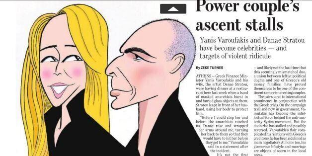 Politico: Γιάνης Βαρουφάκης και Δανάη Στράτου- «η άνοδος του ισχυρού ζεύγους