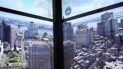Ο ανελκυστήρας που «χτίζει» 5 αιώνες της Νέας Υόρκης μπροστά στα μάτια