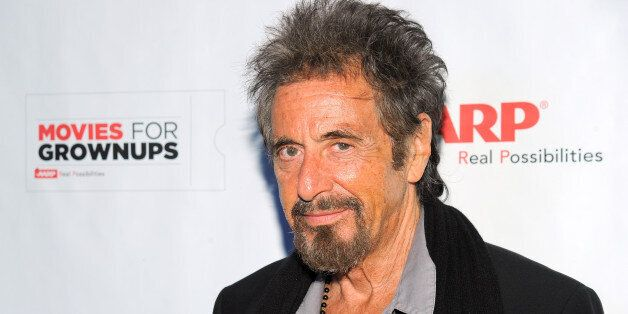 IMAGE DISTRIBUTED FOR AARP - Al Pacino arrives at the AARP Movies for Grownups Film Showcase at Regal...