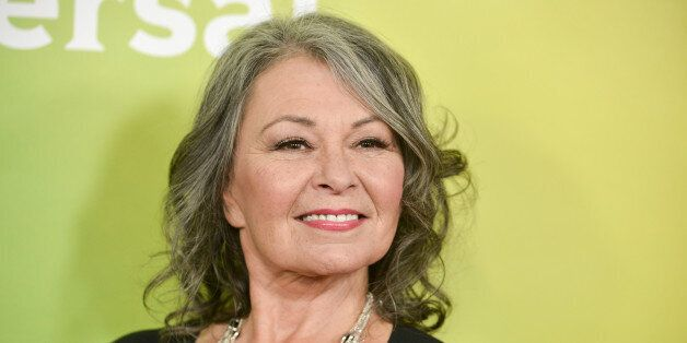 Roseanne Barr arrives at the NBC Universal Summer Press Day on Tuesday, April 8, 2014, in Pasadena, Calif....