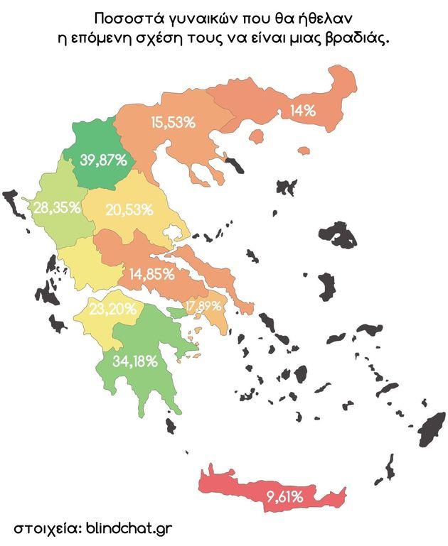 Ποιές οι περιοχές στην Ελλάδα που προτιμούν το one night