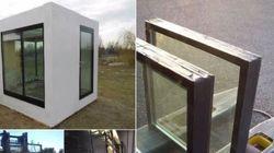 Αρχιτέκτονας χτίζει σπίτια από
