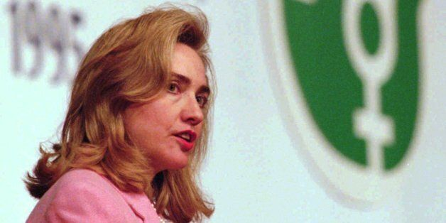 First Lady Hillary Rodham Clinton addresses a special session of the Fourth World Conference on Women...