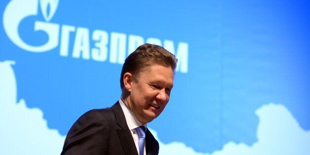 Russia's gas giant Gazprom CEO, Alexei Miller, attends the world biggest gas company's annual meeting...