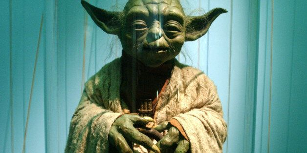 403367 10: An original model of Yoda is displayed April 4, 2002 at the exhibit 'Star Wars: The Magic...