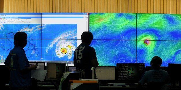 Meteorologists from the Philippine Atmospheric, Geophysical and Astronomical Services Administration...