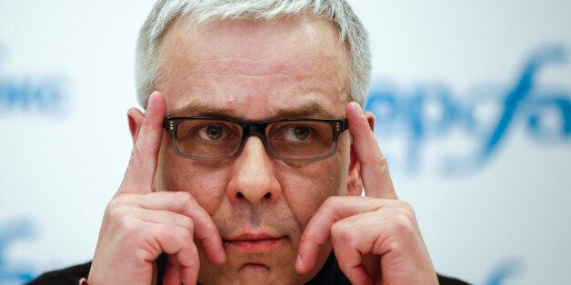 Russian businessman Dmitry Kovtun attends a press conference at Interfax headquarters in Moscow, Russia,...