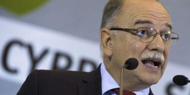 Dimitris Papadimoulis, vice president of the European Parliament, speaks during the Economist's 10th...
