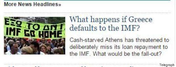 Η Telegraph εξηγεί (ξανά) τι θα συμβεί αν η Ελλάδα δεν πληρώσει το ΔΝΤ στις 9
