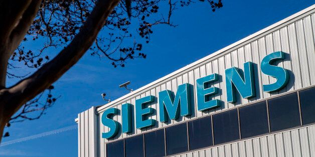 Siemens Industry Inc. signage is displayed outside of the company's manufacturing facility in Sacramento,...