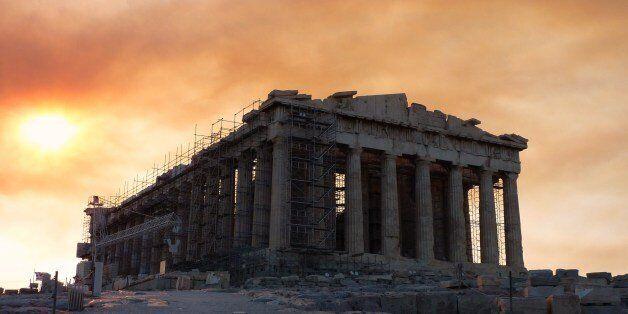 Photos prises lors de notre visite à l'Acropole d'Athènes le 22 aout 2009, le matin du début de