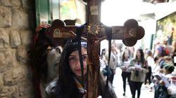 Κατάνυξη στα Ιερουσόλυμα καθώς κορυφώνονται οι εορτασμοί για το Πάσχα των