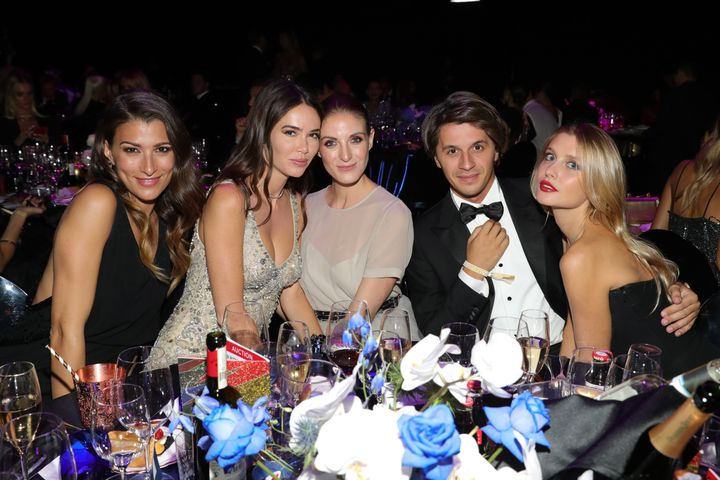 MILAN, ITALY - SEPTEMBER 21: Charlène, Krystel Marini, Stephanie Christina Habib and guests attend the amfAR Gala Milano 2019 at Palazzo Mezzanotte on September 21, 2019 in Milan, Italy. (Photo by Andreas Rentz/amfAR/Getty Images  for amfAR)
