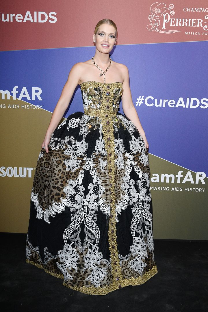 MILAN, ITALY - SEPTEMBER 21: Lady Kitty Spencer attends the amfAR Gala Milano 2019 at Palazzo Mezzanotte on September 21, 2019 in Milan, Italy. (Photo by Daniele Venturelli/Daniele Venturelli/Getty Images )