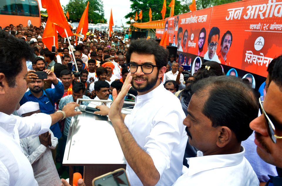 Aaditya Thackeray clicked during the Jan Ashirwaad Yatra in