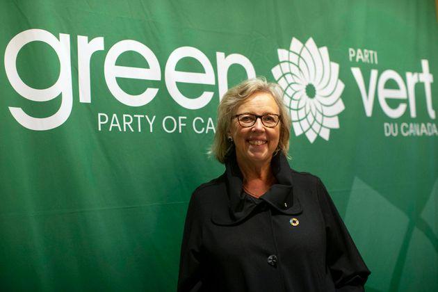 La cheffe du Parti vert Elizabeth